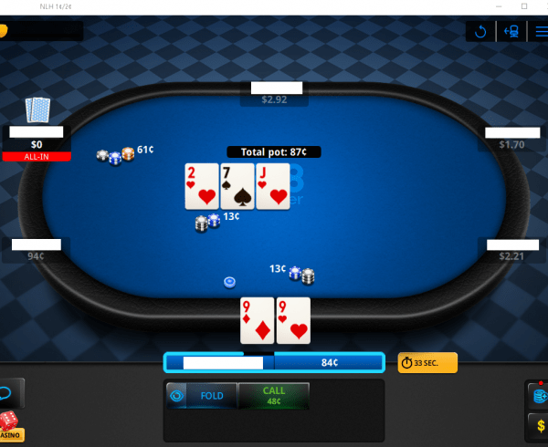 New 888poker table